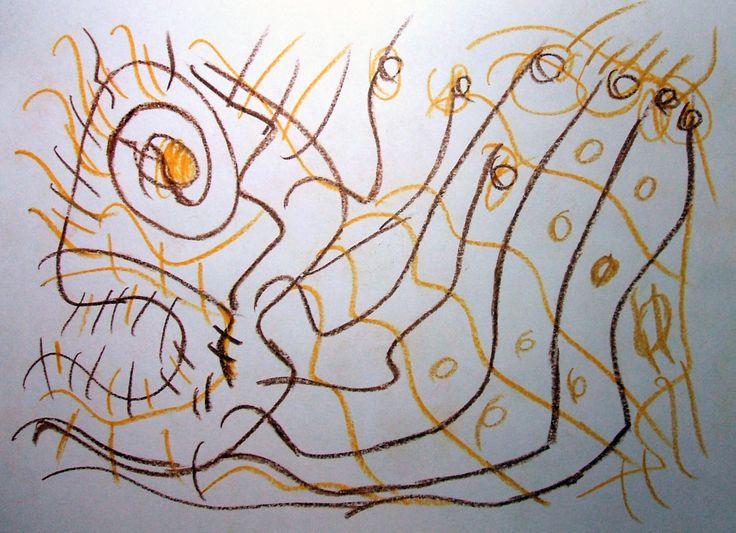 """""""Sgorbio II"""" 2012 Matita a colori su carta 21x29,5"""
