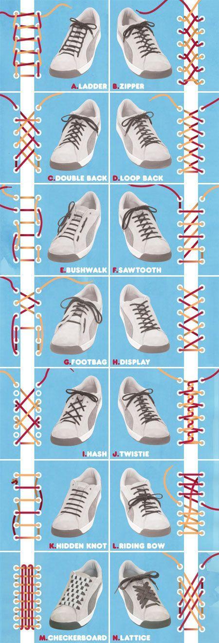 14 Maneras de Atarse Los Cordones de las Zapatillas