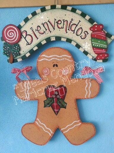Colgante para puerta en navidad coronas pinterest - Coronas de navidad para puertas ...