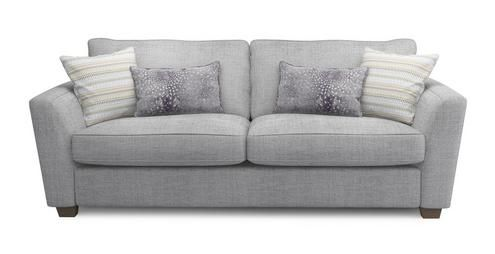 Sophia 3 Seater Sofa Sophia | DFS Grey H: 91cm x W: 224cm x D: 100cm Just ordered this beauty plus two matching snuggler sofas!