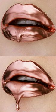 We're completely obsessed with the rose gold lip trend...