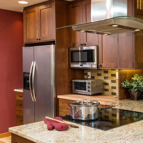 Perfect layout for microwave and toaster oven