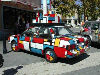 Mondrian car: Piet Mondrian Art, Artcar Mondriaan, Arts, Cars Motorcycles, Stile Mondrian, Unique Cars, Mondrian Car