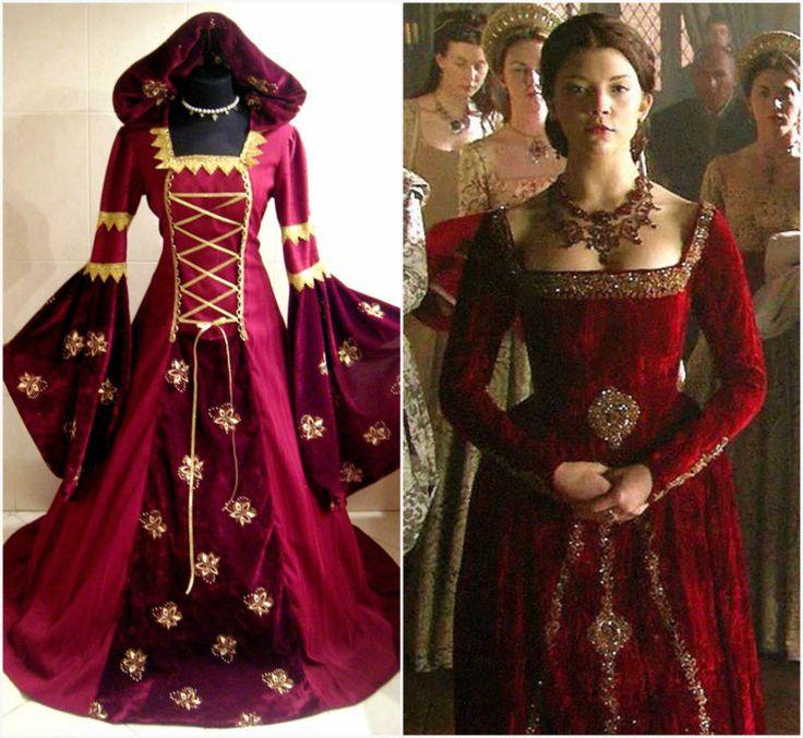 HALLOWEEN DRESS 16-18-20 L-XL-2XL MEDIEVAL WITCH GOTH COSTUME VAMPIRE LARP WICCA