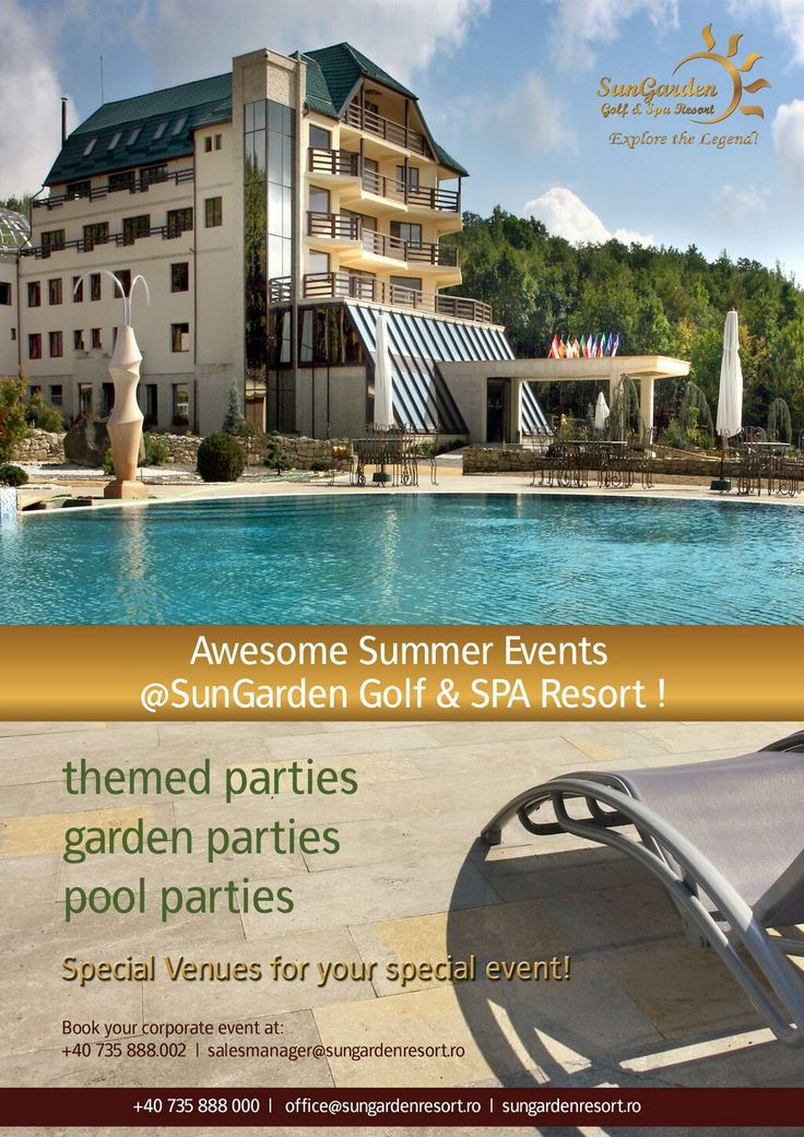 Get ready for the awesome summer events, gather your colleagues and have a great party!