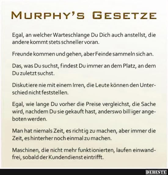 Murphy's Gesetze..