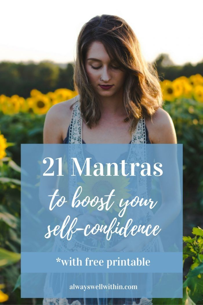 Build self-confidence w/ these 21 positive phrases.
