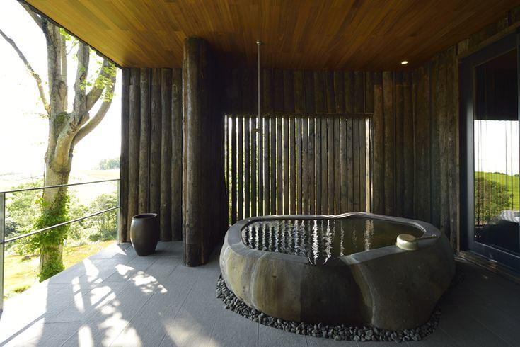 Private Outdoor Onsen    Zaborin 坐忘林   Architect: nA Nakayama Architects   Photographer: Ken Goshima
