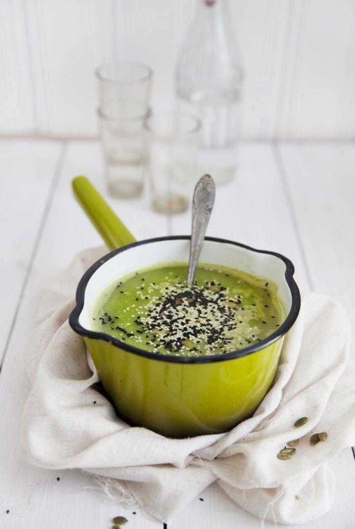 grön ärtsoppa thaistil