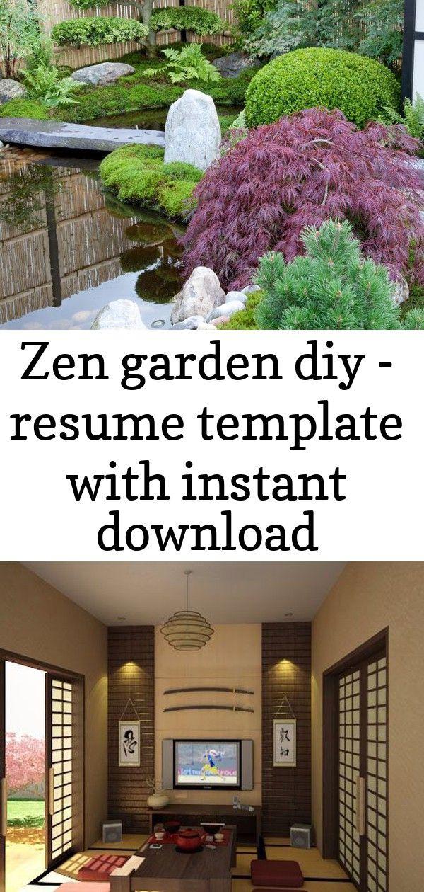 Zen Garden Diy Resume Template With Instant Download Modern Minimal Cv Template Cover Letter 3 Zen Garden Diy Zen Garden Garden Design