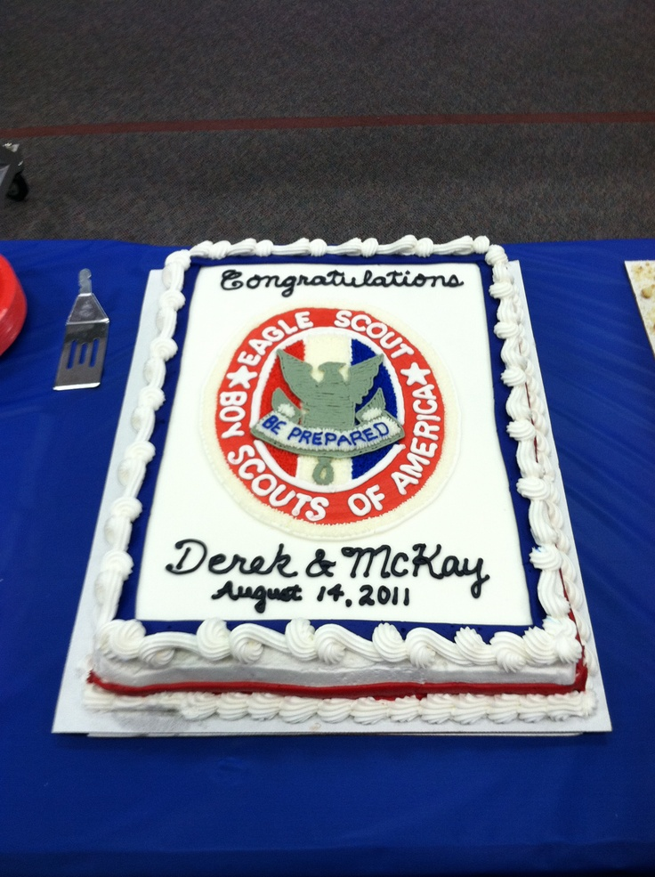 Cake for an Eagle Court of Honor. Congratulations Derek ...