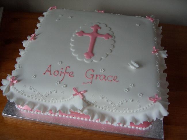 Girl baptismal cake