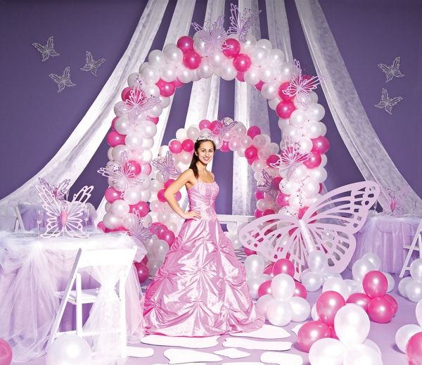 Areglos de xv anos compilado de algunas ideas sobre for Balloon decoration for quinceanera