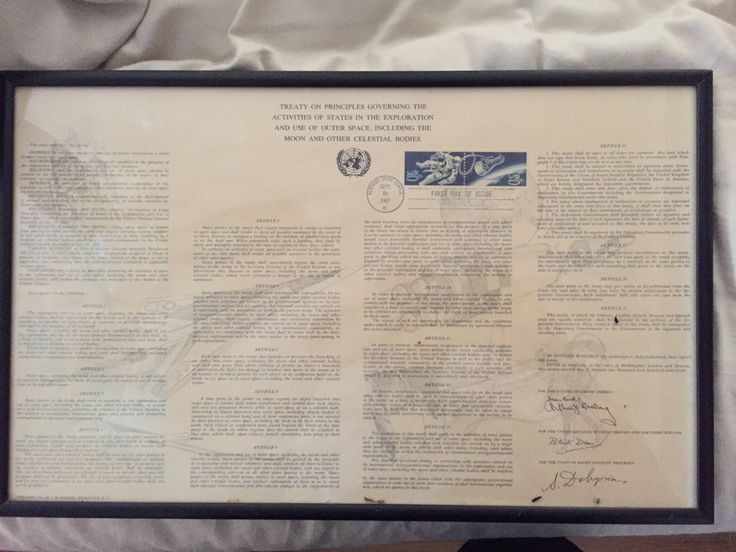 New addition for the home office: The Outer Space Treaty!