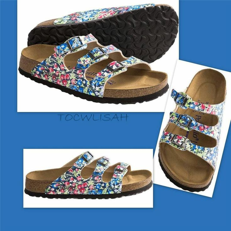 papillio by birkenstock florida spring flower sandals birko floreuro 37 38 39 40 florida. Black Bedroom Furniture Sets. Home Design Ideas
