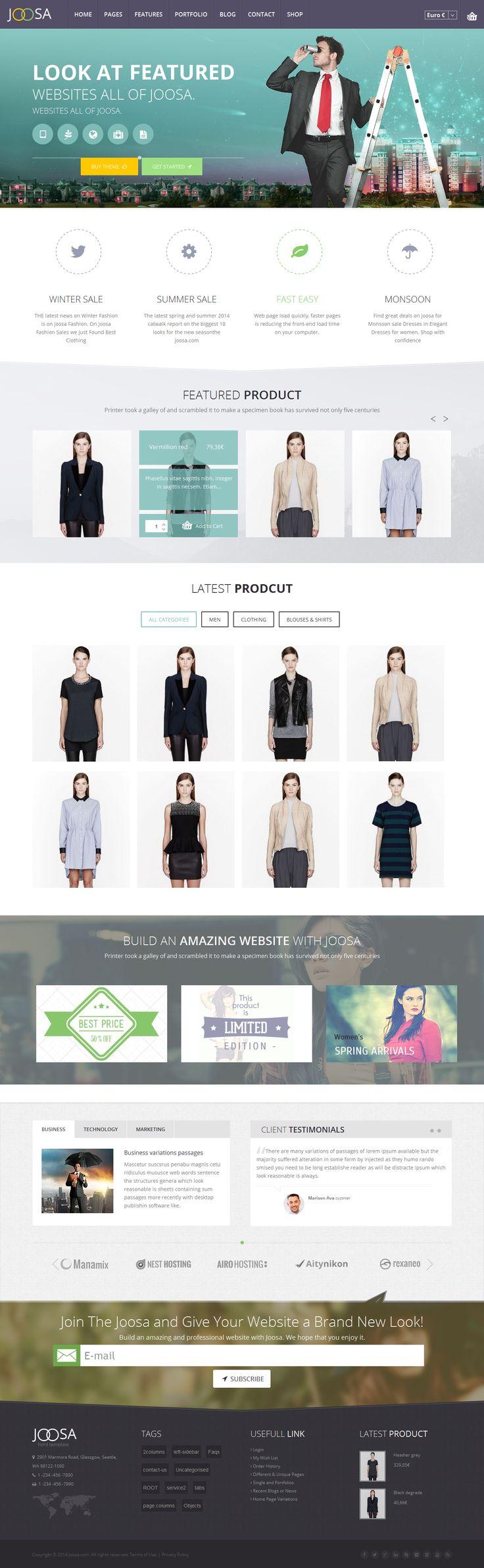 Joomla tshirt design - Joosa Responsive Ultimate Joomla Theme
