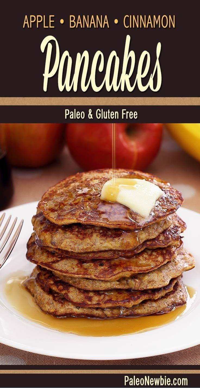 Paleo Apple-Cinnamon Pancakes |  #Apple-Cinnamon #Paleo #Pancakes