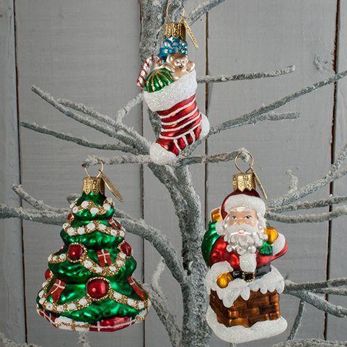 Brink Nordic juletræspynt - Juletræ, julemand og julesok Smuk håndlavet dekoration til juletræet - Coop.dk