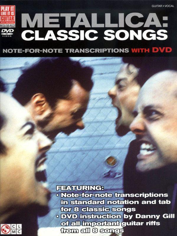 Классические песни для гитары - гитарных табулатур книги (ж / DVD) - Metallica