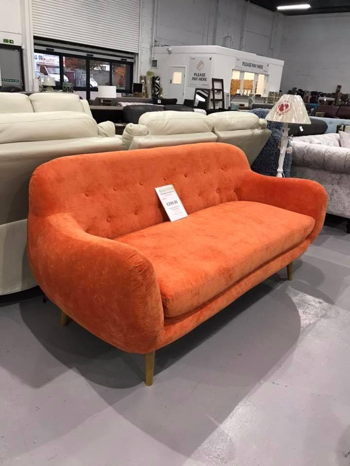 Orange Sofa - £299 Dagenham Store 335-351 Rainham Road South ...
