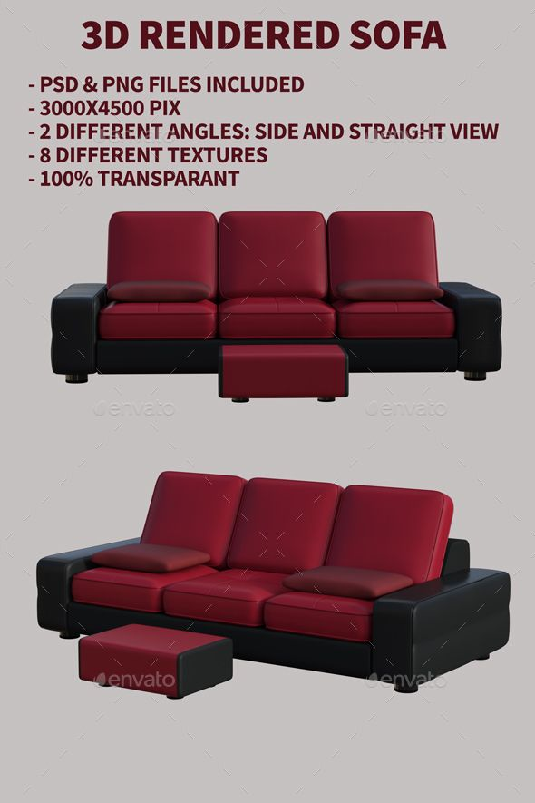 3d Rendered Sofas Psd Png Files Included 3000x4500 Pix 2