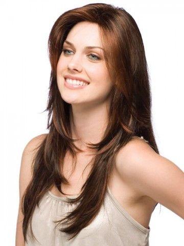 Lengthy Human Hair Layers Wig
