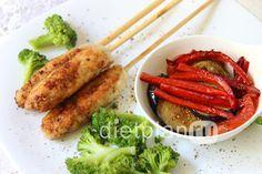 Диетический обед: люля-кебаб из куриного филе с овощами - Источник: <a href='http://www.dietplan.ru'>Dietplan.ru</a>