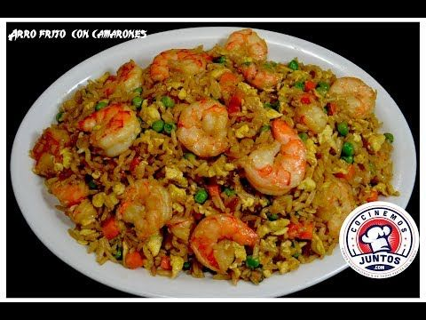 Arroz frito chino con camarones - Comida China - YouTube