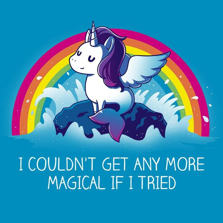 "More Magical T-Shirt TeeTurtle Magic Pegasus Mermaid Unicorn. ""I couldn't get any more magical if I tried."" - quote"