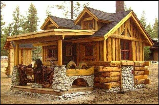 cabins exterior - hard to explain