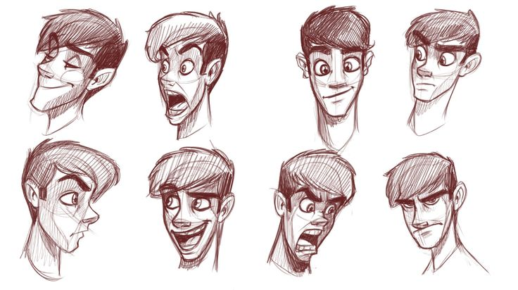 How to draw heads of slim characters                                                                                                                                                                                 More