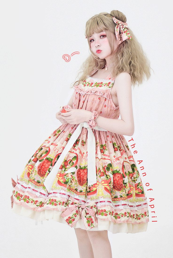 The Ann of April -Strawberry Angel- Sweet Classic Lolita Jumper Dress
