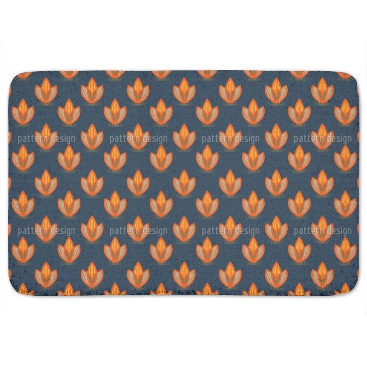 Uneekee Lotus Orange Bath Mat
