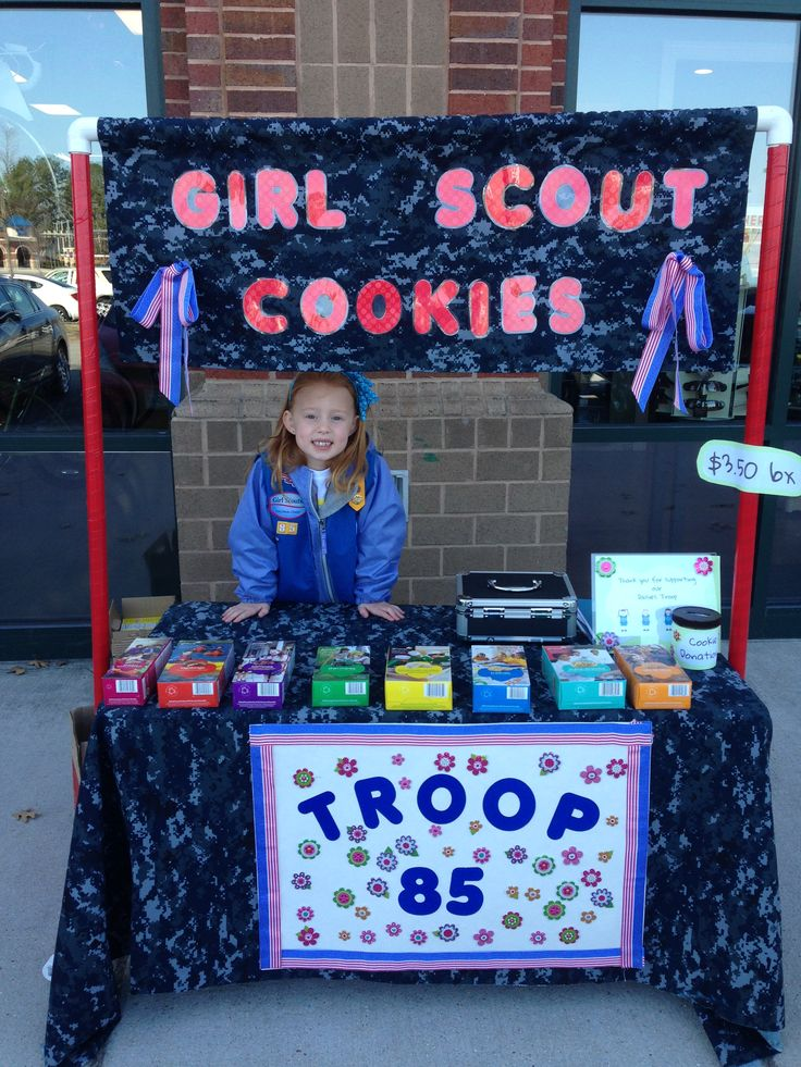 bling your booth idea girl scout cookies pinterest