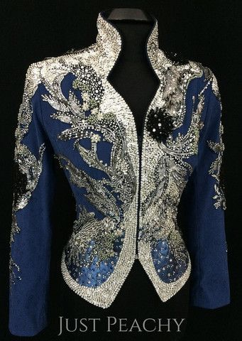 Blue and silver western horse show jacket by Maisy & Me ~ Just Peachy Show Clothing