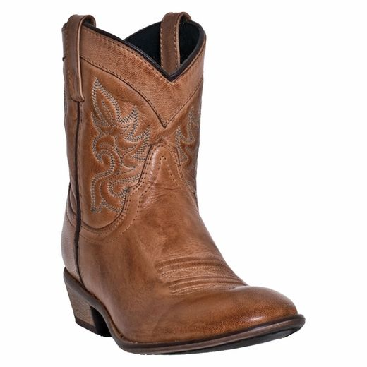 These fashionable leather womens cowboy boots from Dingo feature a shaft,  round toe, and low western heel. From traditional western, to motorcycle,  ...