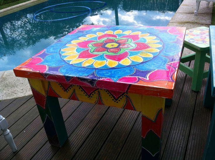 M s de 1000 ideas sobre mesas pintadas en pinterest mesa - Mesas pintadas a la tiza ...