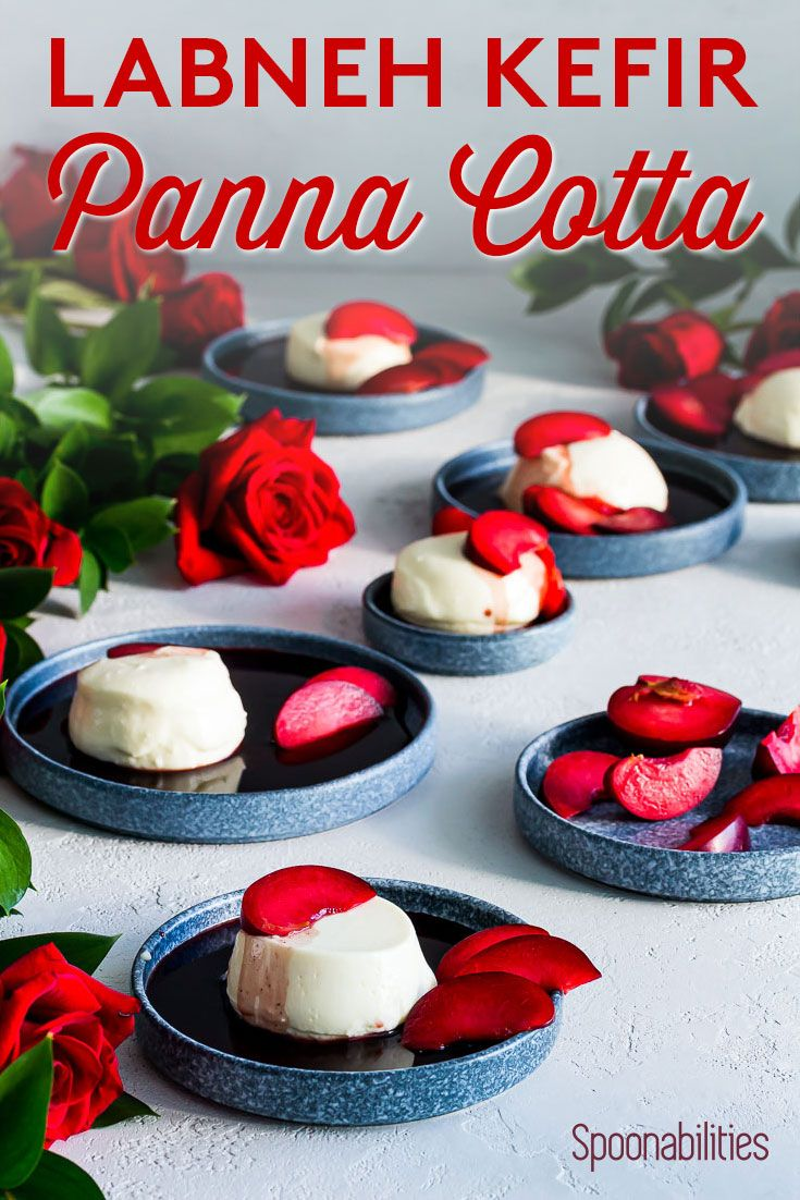 Labneh Kefir Panna Cotta With Red Wine Syrup Recipe Desserts Italian Desserts Easy Labneh