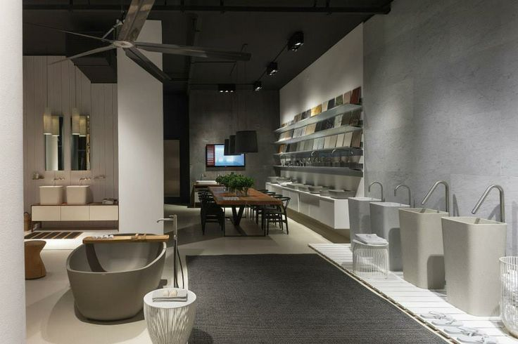 NEUTRA Flagship Store in milan - water_wellness_stone. #bathroom #spa #design #bathtube #washbasin