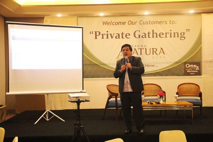 Penjelasan presentasi langsung dipersembahkan dari pihak Serpong Natura City, Bapak Ferry.