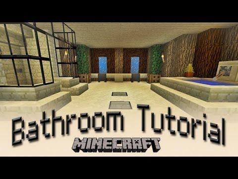 Minecraft How To Make A Bathroom Tutorial Youtube Minecraft Cheats Minecraft Furniture Minecraft Houses