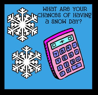 Clutter-Free Classroom: Snow Day Calculator!!!