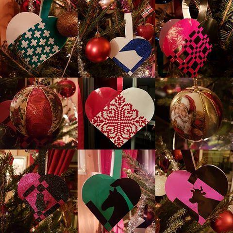 Koselig med hjemmelaget julepynt  #julepynt #juletrepynt #juletre #hjemmelagetjulepynt #godjul #julekurver