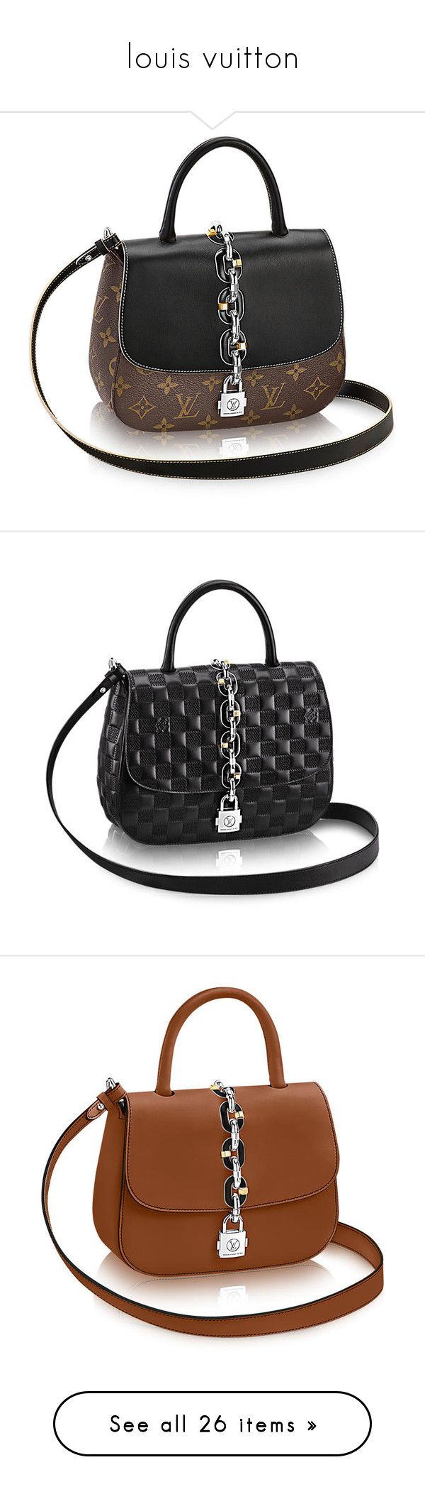 """louis vuitton"" by janysoares28 ❤ liked on Polyvore featuring bags, canvas bag, fake bags, chain bag, monogram canvas bag, monogrammed bags, handbags, faux-leather handbags, chain handbags and nautical purse"