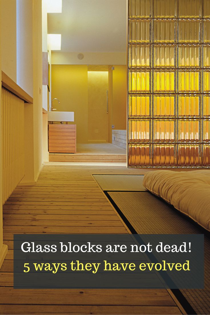 Are glass block dead? Click through to see the modern and contemporary glass block wall designs.