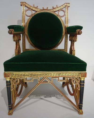 Fauteuil à la reine de la marquise de Marbeuf. Georges Jacob. Paris, vers 1788-1790. Barnard Castle (Durham). The Bowes Museum.