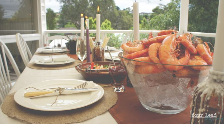 What's Christmas lunch without fresh Australian prawns ?? Four Leaf Styling
