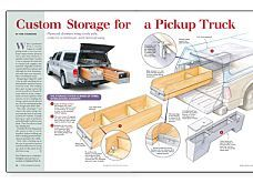custom storage for a pickup truck fine