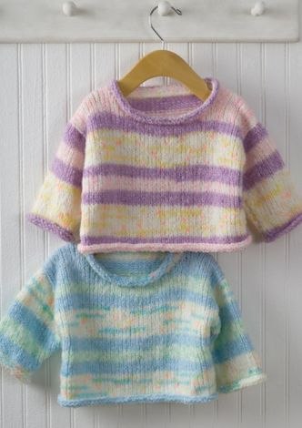 Easy Knit Baby Pullover,seems like too much sewing for me I would do it on my beloved circulars