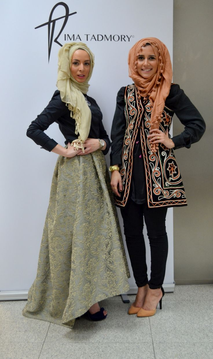 Rima Tadmory & Dina Tokio #hijab#muslimah fashion- Oh to be a fashion designer
